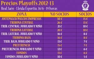 Precios Playoffs 2013 RJ - Lleida