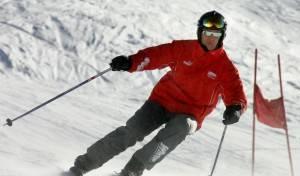 Michael Schumacher esquiando en Madonna di Campiglio, Italia en el 2005.