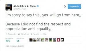 Tweet Al Thani