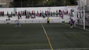Pedro Ortega ataja penalti al Cazorla