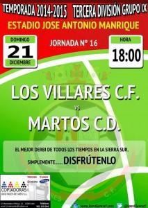 cartel Los Villares - Martos CD