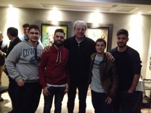 D' Alessandro con parte del equipo de Palabra de Fútbol
