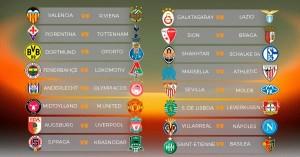 sorteo dieciseisavos europa league