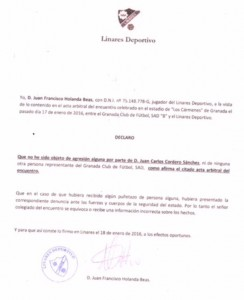Comunicado Juanfran